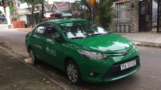 Xe taxi do tài xế gặp nạn điều khiển khi chở Park Young Jun từ Thừa Thiên Huế vào Đà Nẵng.