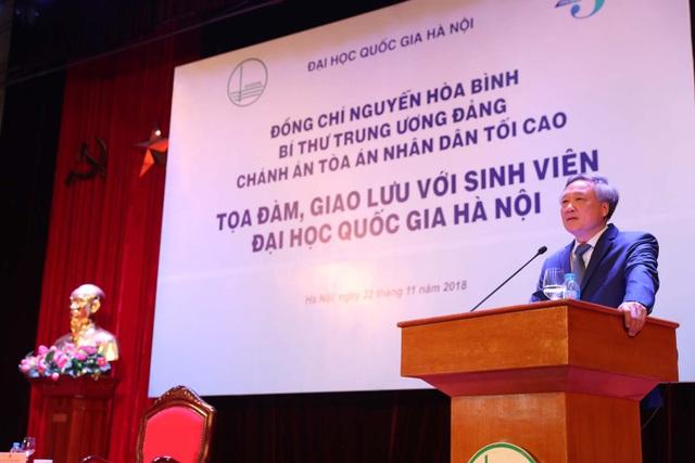 Bí thư Trung ương Đảng PGS.TS Nguyễn Hòa Bình, Chánh án Tòa án Nhân dân Tối cao