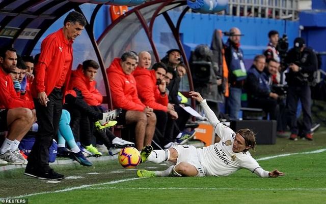 Modric và đồng đội đã có trận đấu thất vọng