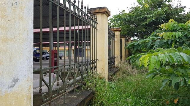 Bên ngoài, cỏ dại mọc cao vút không được dọn dẹp, tràn lan ra vỉa hè, trước cửa các kiốt.
