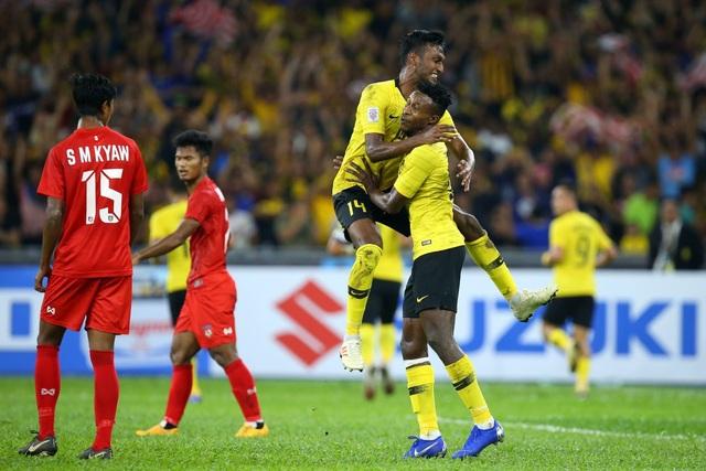 Các cầu thủ Malaysia đã chơi vượt trội hơn hẳn Myanmar