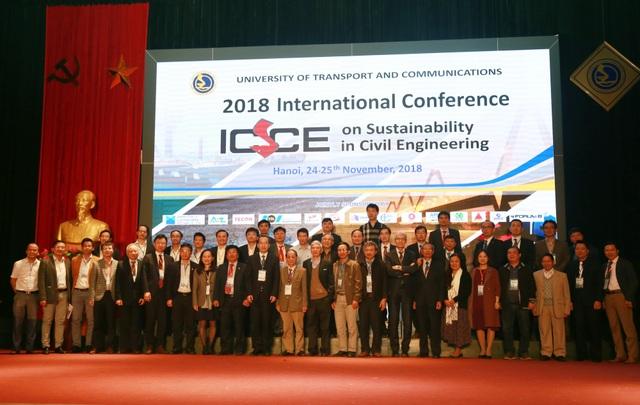 Các nhà khoa học quốc tế dự Hội nghị ICSCE 2018 tại trường ĐH Giao thông vận tải