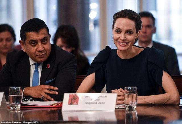 Trước đó minh tinh 43 tuổi cũng tham dự một cuộc họp tại Văn phòng Ngoại giao với Đặc phái viên của Thủ tướng Chính phủ về phòng ngừa Bạo lực Tình dục