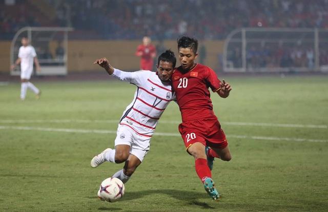 Đội tuyển Việt Nam thể hiện sự vượt trội trước Campuchia (ảnh: Huyền Trang)