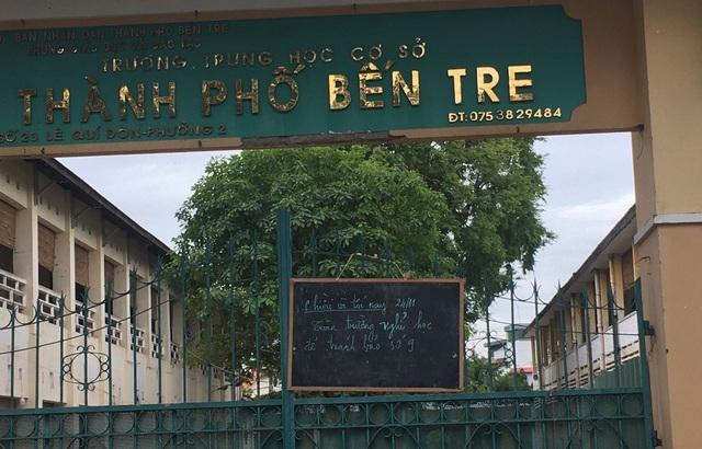 Trường học ở Bến Tre thông báo cho học sinh nghỉ học