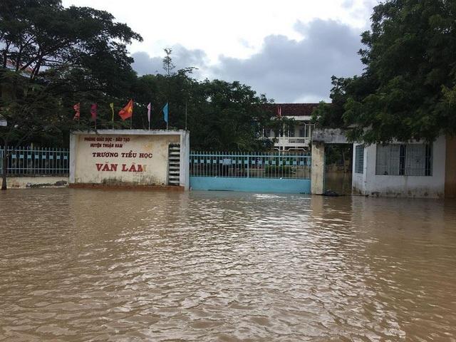 Nhiều cơ quan và nhà dân của xã Phước Nam bị chìm trong nước