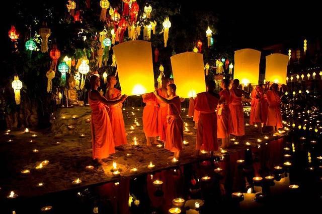 Lễ hội thả đèn hoa đăng có tuổi đời hàng trăm năm ở Thái Lan