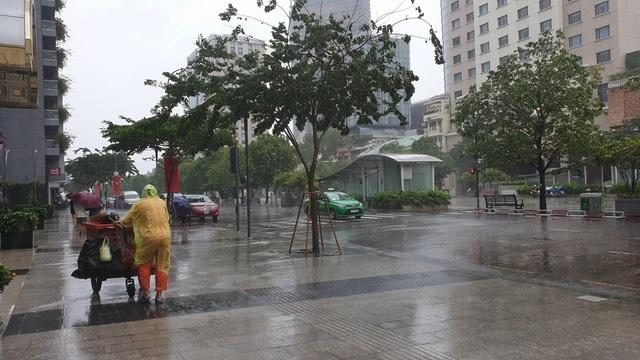 TPHCM và Vũng Tàu mưa to, gió lớn, sóng biển mạnh - 2
