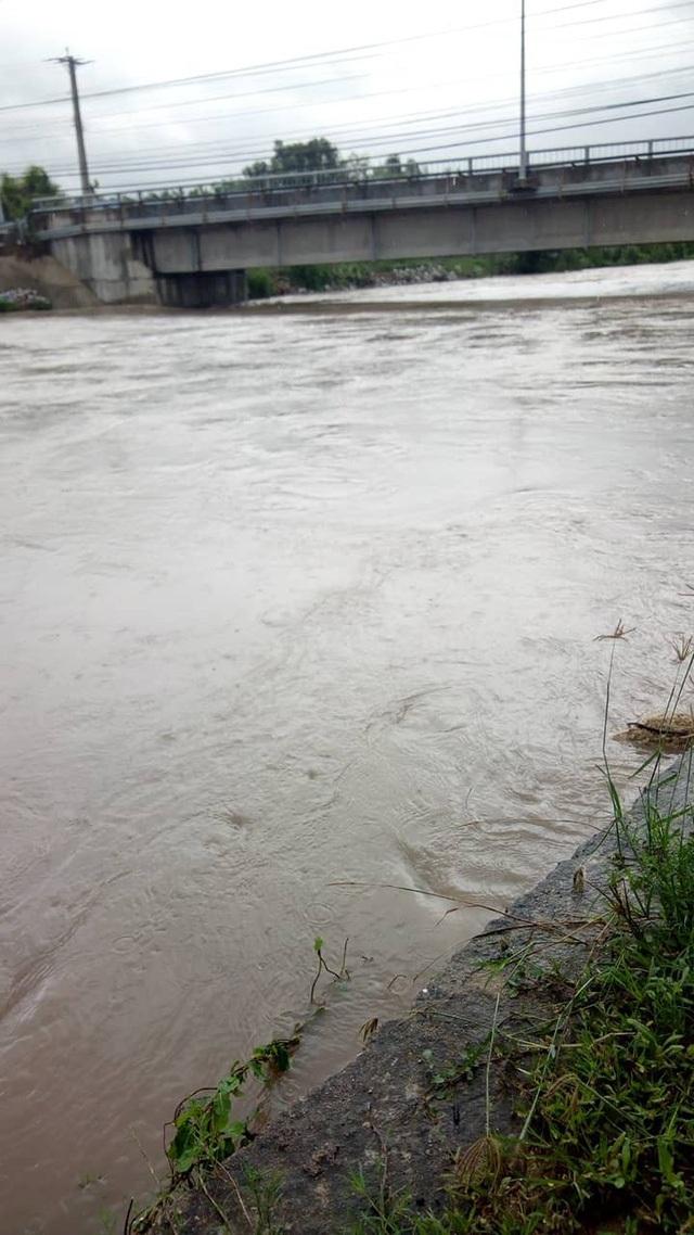 Hiện nước thượng nguồn vẫn đang tiếp tục đổ về rất nhiều, nước sông dâng cao