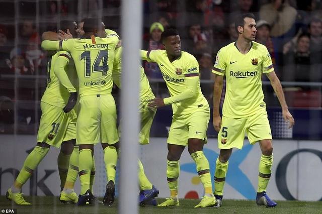 Barcelona giành 1 điểm may mắn tại Metropolitano