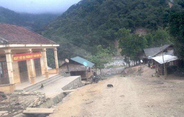 Cung đường vào xã Tà Cạ chỉ chưa đầy 10km nhưng phải di chuyển mất gần 1h đồng hồ mới tới địa điểm trường.