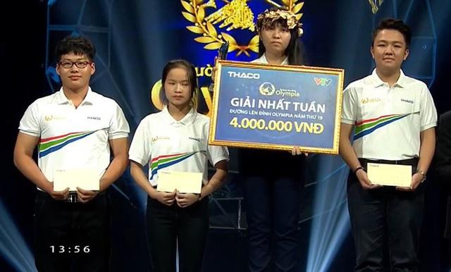 Tạ Nhật Linh chiến thắng cuộc thi Tuần 3 Tháng 3 Quý 1
