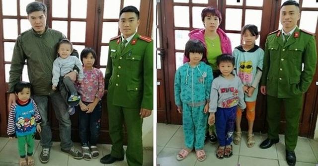 Phút đoàn tụ với người thân của 6 đứa trẻ tại trụ sở CAP Lê Đại Hành