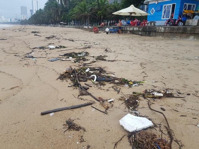 """Nha Trang: Bãi biển bị rác từ thượng nguồn """"tấn công"""" sau mưa lũ - 2"""