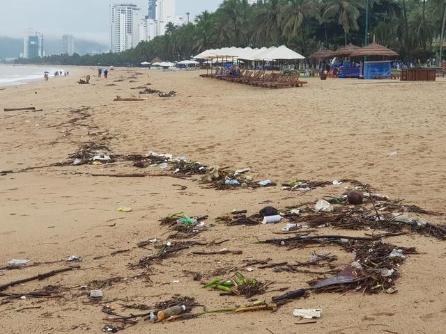 """Nha Trang: Bãi biển bị rác từ thượng nguồn """"tấn công"""" sau mưa lũ - 7"""