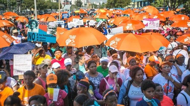 Tuần hành ôn hòa tại Cộng hòa Dominica (Ảnh: AFP)