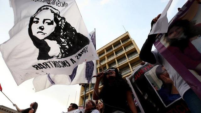 Tuần hành tại Ecuador (Ảnh: AFP)