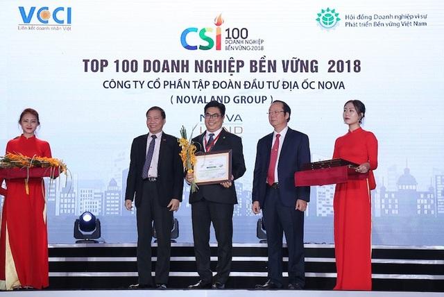 Đại diện Tập đoàn Novaland tại lễ vinh danh Doanh nghiệp bền vững 2018