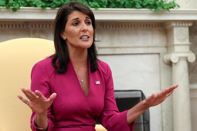 Đại sứ Mỹ tại Liên Hợp Quốc Nikki Haley (Ảnh: Reuters)