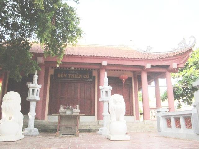 Đền Thiên Cổ (Phú Thọ), ngôi đền được cho thờ sự học đầu tiên của người Việt.(Ảnh: Thế Lượng)