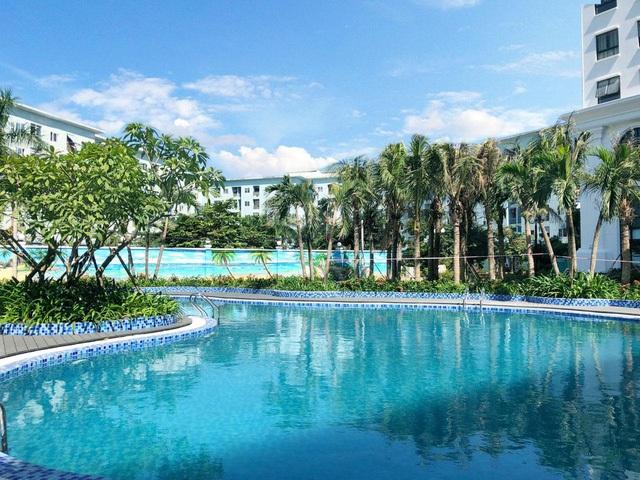 Bể bơi đã hoàn thiện tại dự án Eco City Việt Hưng Long Biên