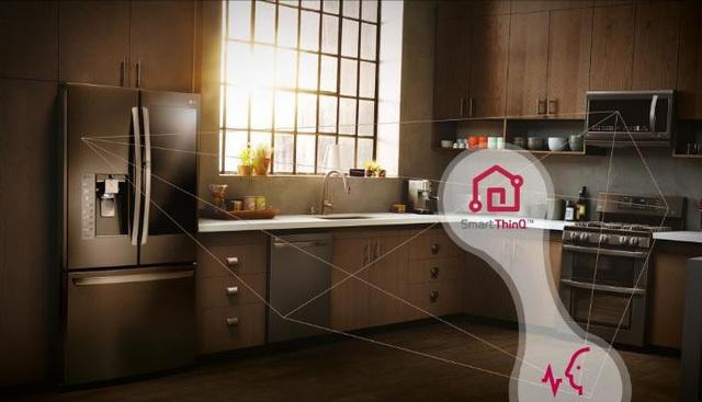 Căn bếp thông minh với các thiết bị được kết nối với nhau thông qua ứng dụng SmartThinQ.