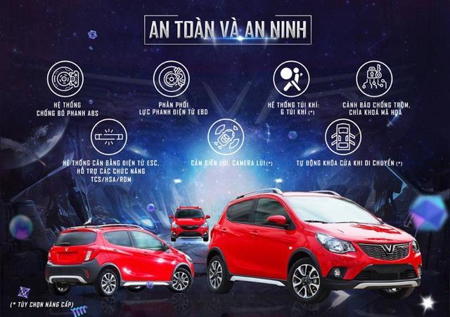 VinFast Fadil có thể coi là chiếc xe an toàn hàng đầu trong các phân khúc xe nhỏ tại Việt Nam với các trang thiết bị an toàn tiêu chuẩn và các tuỳ chọn nâng cấp.