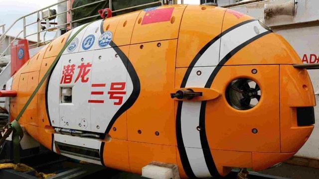 Tàu ngầm không người lái Qianlong III của Trung Quốc. (Ảnh: Weibo)