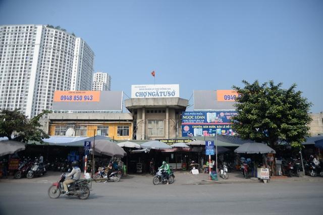 Dự án Trung tâm thương mại, chợ Ngã Tư Sở là 1 trong 16 dự án vừa bị Sở Kế hoạch và Đầu tư Hà Nội công khai chấm dứt hoạt động do chậm triển khai (Ảnh: Nguyễn Trường).