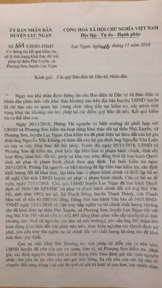 """Bắc Giang: """"Đất tặc"""" bị tóm gọn sau phản ánh của Báo Dân trí! - 3"""