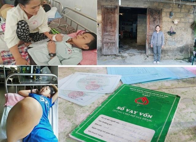 Hoàn cảnh đáng thương của nhà chị Hiền vơi 5 người thì 4 người đã bị đau bệnh
