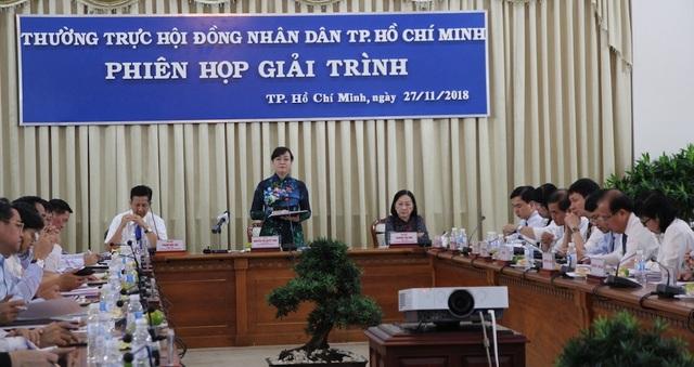 Chủ tịch HĐND TPHCM Nguyễn Thị Quyết Tâm cho rằng cần thay đổi tư duy thực hiện quy hoạch công viên cây xanh