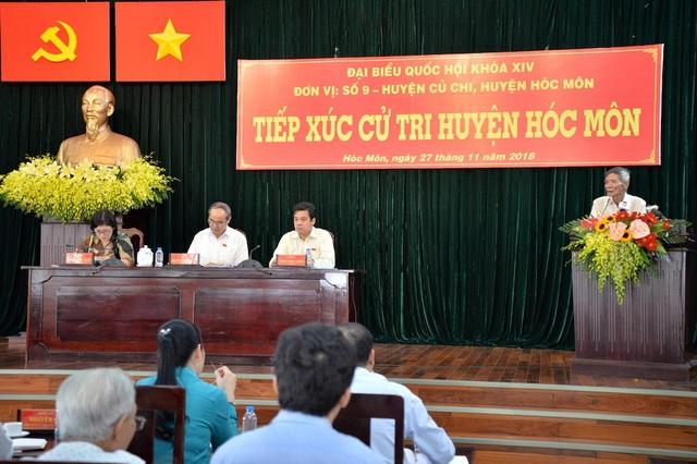 Cử tri huyện Hóc Môn phản ánh nhiều vấn đề liên quan đến giao thông, quy hoạch treo, tham nhũng...