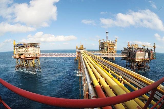 Giàn khai thác dầu khí của Vietsovpetro tại mỏ Bạch Hổ