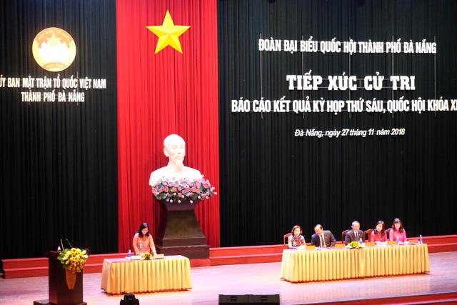 Đoàn ĐBQH TP Đà Nẵng tiếp xúc cử tri sáng 27/11