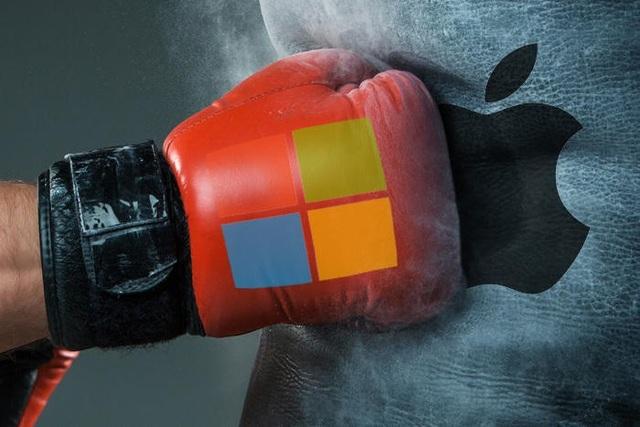 """Microsoft đã bất ngờ """"vượt mặt"""" Apple để giành lấy """"ngôi vương"""" trên thị trường"""