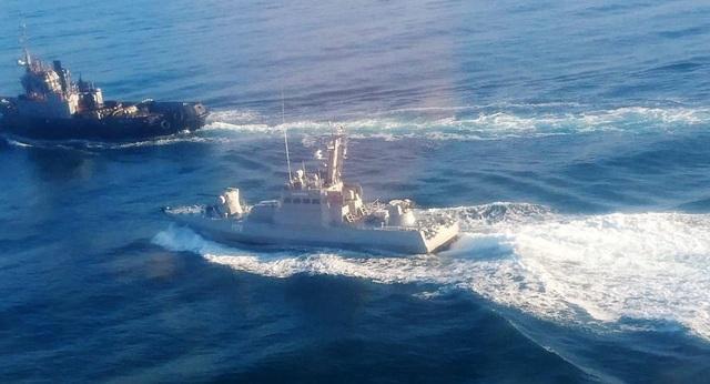 Các tàu của Ukraine bị cáo buộc xâm phạm lãnh hải Nga hôm 25/11. (Ảnh: Sputnik)