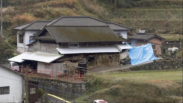 Ngôi nhà nơi xảy ra vụ án mạng (Ảnh: Kyodo)