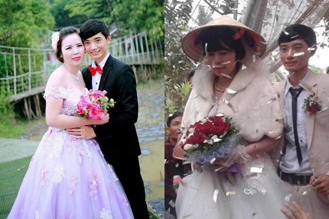 Hình ảnh đám cưới của cặp đôi vào năm 2017