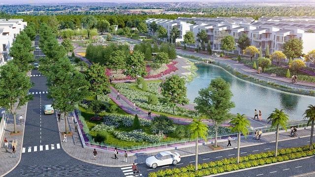 New City Phố Nối sở hữu 2 hồ điều hòa cùng hệ thống cảnh quan thiên nhiên bao phủ