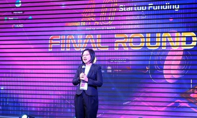 Bhị Nguyễn Thị Thu Vân - Phó Chủ tịch thường trực Hội Liên hiệp Thanh niên Việt Nam, đại diện BTC SFC đánh giá cao các startup tham gia chương trình về sự sáng tạo tính ứng dụng thực tiễn.
