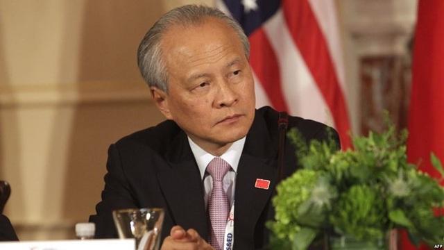 Đại sứ Trung Quốc tại Mỹ Thôi Thiên Khải (Ảnh: AFP)
