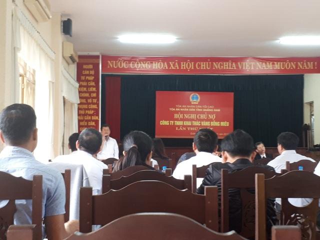 Hội nghị chủ nợ Công ty TNHH khai thác vàng Bồng Miêu lần thứ nhất do TAND tỉnh Quảng Nam tổ chức sáng 28/11