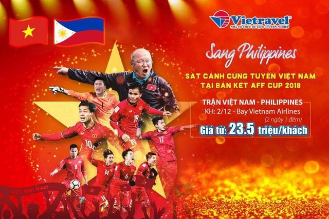 Vietravel sớm tung ra gói tour đưa CĐV Việt Nam sang Philippines cổ vũ đội nhà