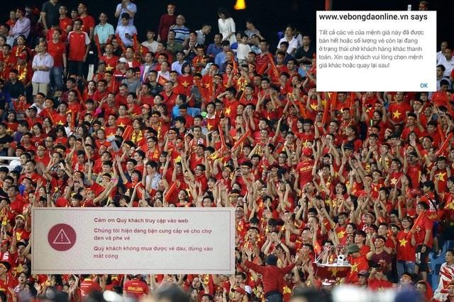 Người hâm mộ bức xúc vì không thể mua vé qua hình thức online