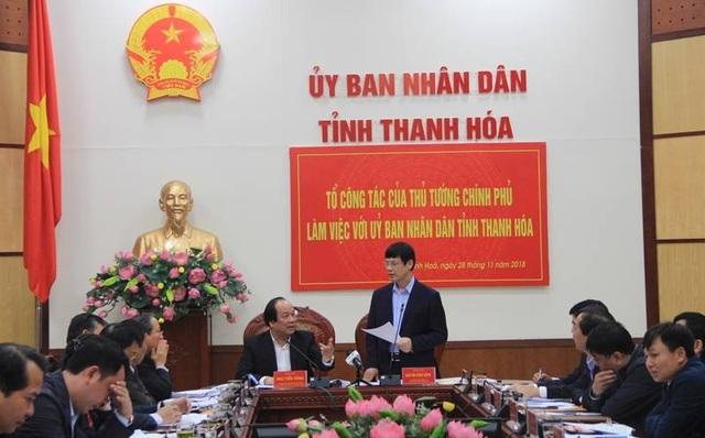 Chủ tịch UBND tỉnh Thanh Hóa Nguyễn Đình Xứng giải trình một số vấn đề tồn tại, bất cập mà Thủ tướng yêu cầu báo cáo.