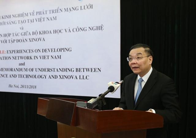 Bộ trưởng Bộ Khoa học và Công nghệ Chu Ngọc Anh phát biểu tại sự kiện.
