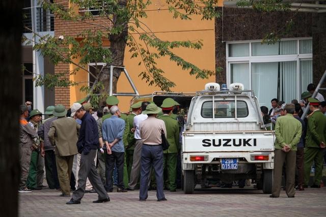 Lực lượng công an đã có mặt tại trụ sở VFF để đảm bảo an ninh.