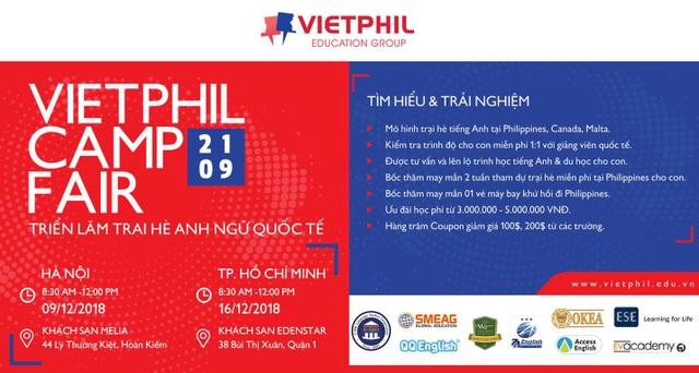 Triển lãm trại hè Anh ngữ quốc tế VietPhil Camp Fair 2019