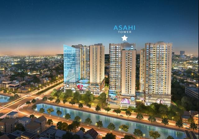 Toà tháp Ánh sáng Asahi được định hướng trở thành không gian sống lý tưởng cho thế hệ tương lai.
